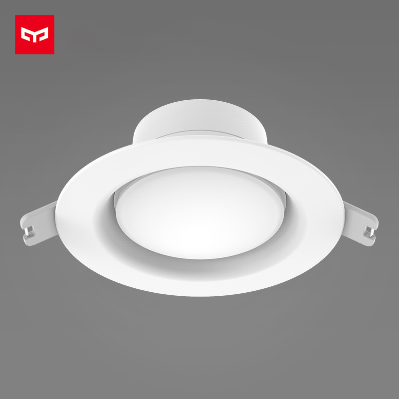 Оригинальный Xiaomi yeelight светодиодный светильник Теплый желтый/холодный белый круглый светодиодный Потолочные встраиваемые свет AC110-260V свето...