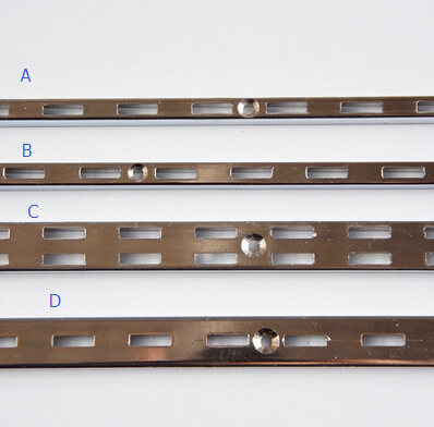 AA Shelf Mounted Rails AA Double Column A Thick Wall Mounting Rail Bars Shelf Support Tube With Hole Furniture Accessories