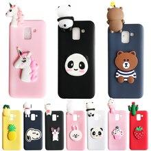 For Samsung Galaxy J4 J6 Plus case Unicorn Panda Soft TPU Silicone cover J8 2018 Phone cases shell Coque