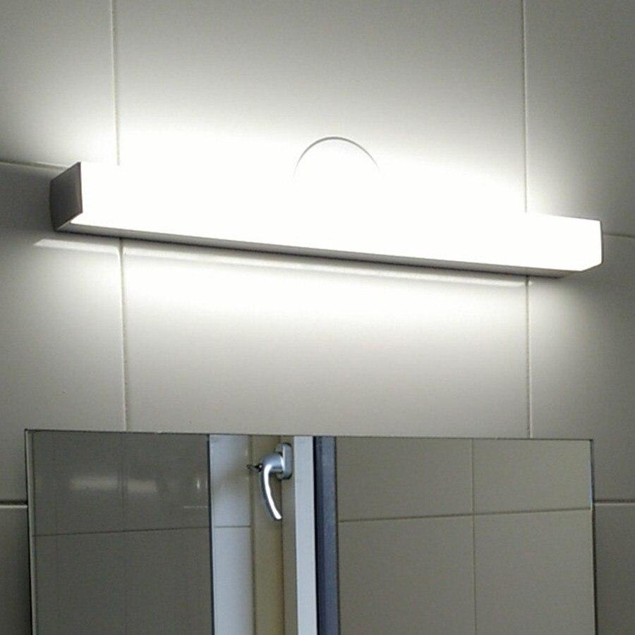 8 w 12 w waterdichte led badkamer spiegel ac220v 40 cm 50 cm moderne cosmetische acryl