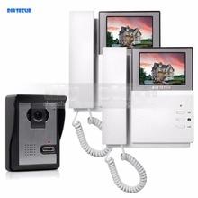 DIYSECUR 800 x 480 HD 4.3inch Video Intercom Video Door Phone Doorbell 1 Camera 2 Monitors for Home / Office Security System