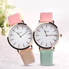 Для женщин Для Мужчин's Повседневное студент Искусственная кожа аналоговые кварцевые наручные часы пара