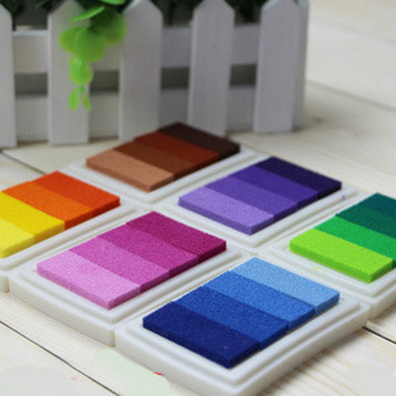 Multi Colors Wedding Sign Inkpad Ink Pads for Rubber Stamps Inks Concave Waist Seal Ink Pad for Wedding Sign Painting дырокол k ink multi roto ph001