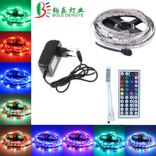 5M 10M RGB LED Strip 12V 60 leds/m SMD 2835 Waterproof Flexible Tape Ribbon Colorful Rope Light String Lamp+LED Controller+Power 12v led strip light waterproof led tape lamp 1m 5m 10m 2835 smd flexible led neon strip led sign board tube rope string lights