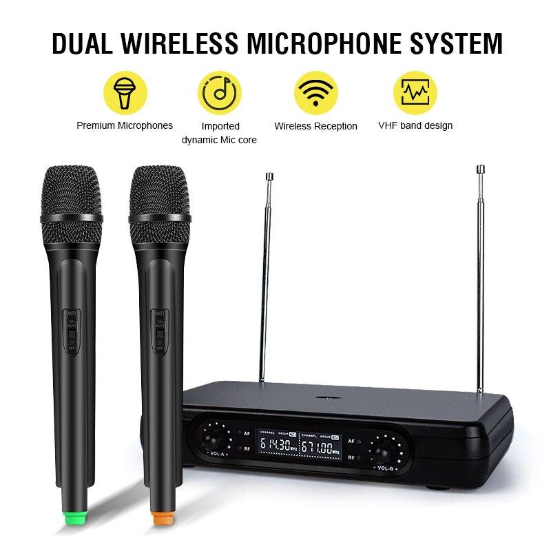 VBESTLIFE EU Wireless Mini Family Home Karaoke System Singing Machine Box DJ Players Mixe Audio For Android TV Box PC Phones