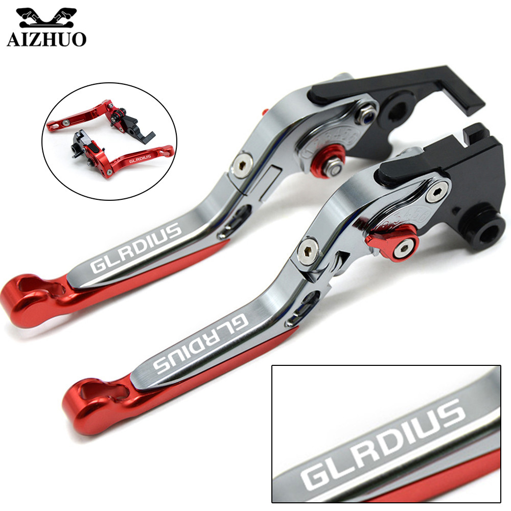 Motorcycle Clutch Brake Lever Aluminum Extendable Adjustable For Suzuki SFV650 GLADIUS SFV 650 2009 2010-2015 With GLADIUS LOGO adjustable folding extendable brake clutch lever for ktm 690 smc smcr 690smc smc r 14 15 16 with logo free shipping motorcycle