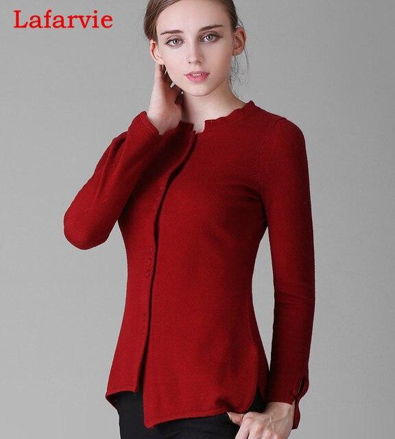Lafarvie Нерегулярные асимметричная леди кашемир кардиган женский кашемировый свитер два цвета размер S, M, L, XL, XXL