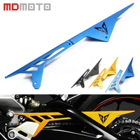 Motorcycle CNC Aluminum Chain Protector Guard Cover Decoration For Yamaha MT 09 FZ 09 2014 2016