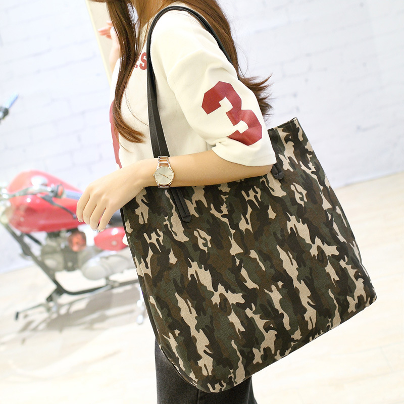 ФОТО 2016 New Arrival fashion women Handbags High Quality Shoulder Bag Ladies camouflage Canvas Tote Bag Women Messenger Bags CW2055