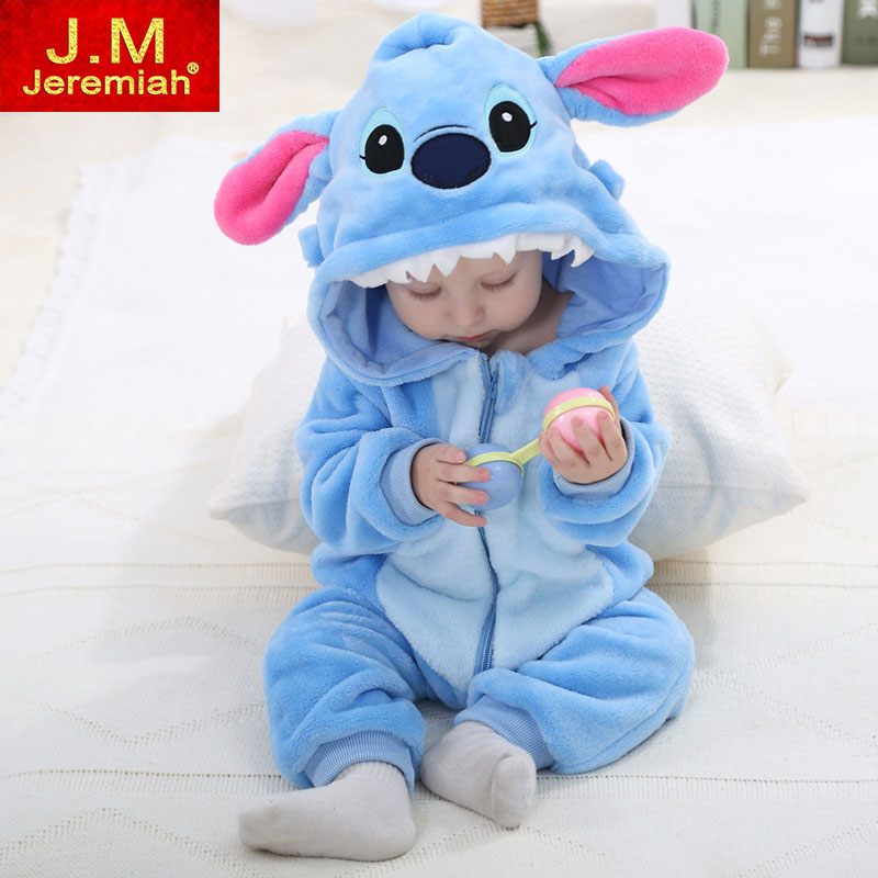 Infant Romper Baby Boys Girls Jumpsuit New born Bebe Clothing Hooded Toddler Baby Clothes Cute Stitch Romper Baby Costumes newborn baby rompers baby clothing 100% cotton infant jumpsuit ropa bebe long sleeve girl boys rompers costumes baby romper