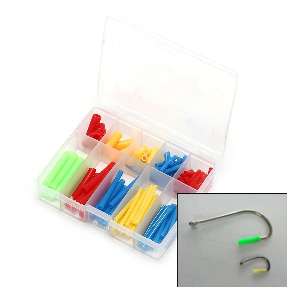 Dynamic 1 Box Fishing Hooks Durable Jig Case Covers Tube Bonnets Fishing Hooks Caps Protector Fishing Tool
