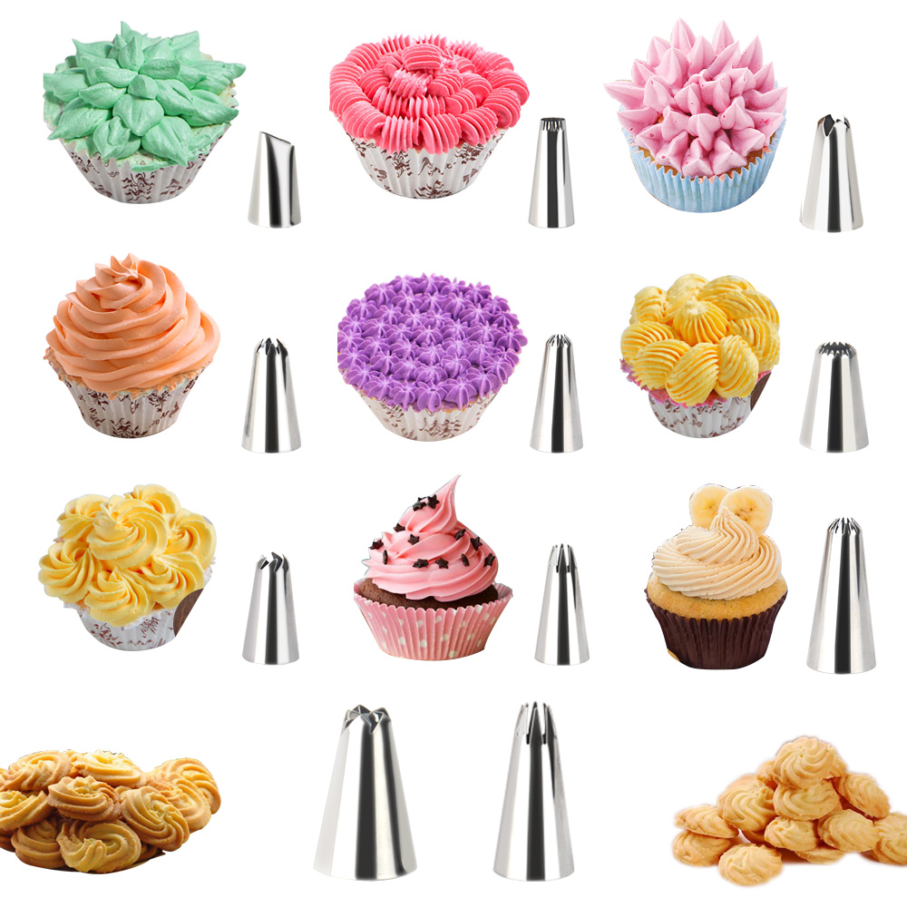 22pcs Russian Piping Tips Stainless Steel Nozzles Baking ...