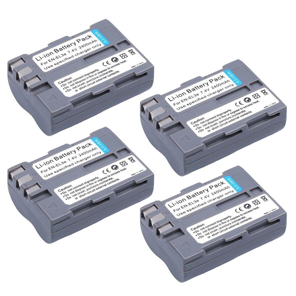 EN EL3E ENEL3E 7.4V 2400mAh Batterie Appareil Photo EN-EL3e et chargeur Pour Nikon en el3e batterie D30 D50 D70 D90 D70S D300