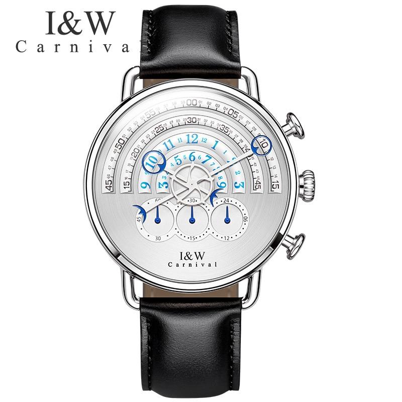 CARNIVAL Men Quartz Sport Watch Chronograph Military Army Watches Clock Men Top Brand Luxury 2017 New Creative Watch Men Relogio