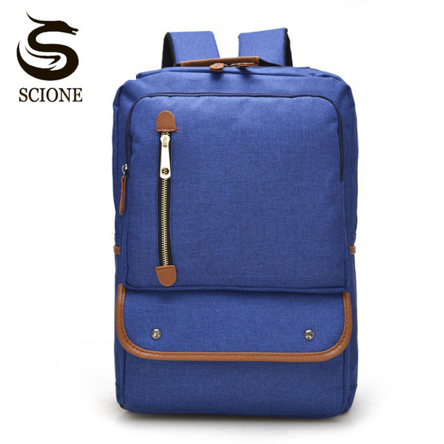 86ae9145de3fb Scione Canvas School Backpack Teenagers Notebook Computer Backpack Stylish  Men Laptop Bag Women Travel Rucksack Daily Mochila