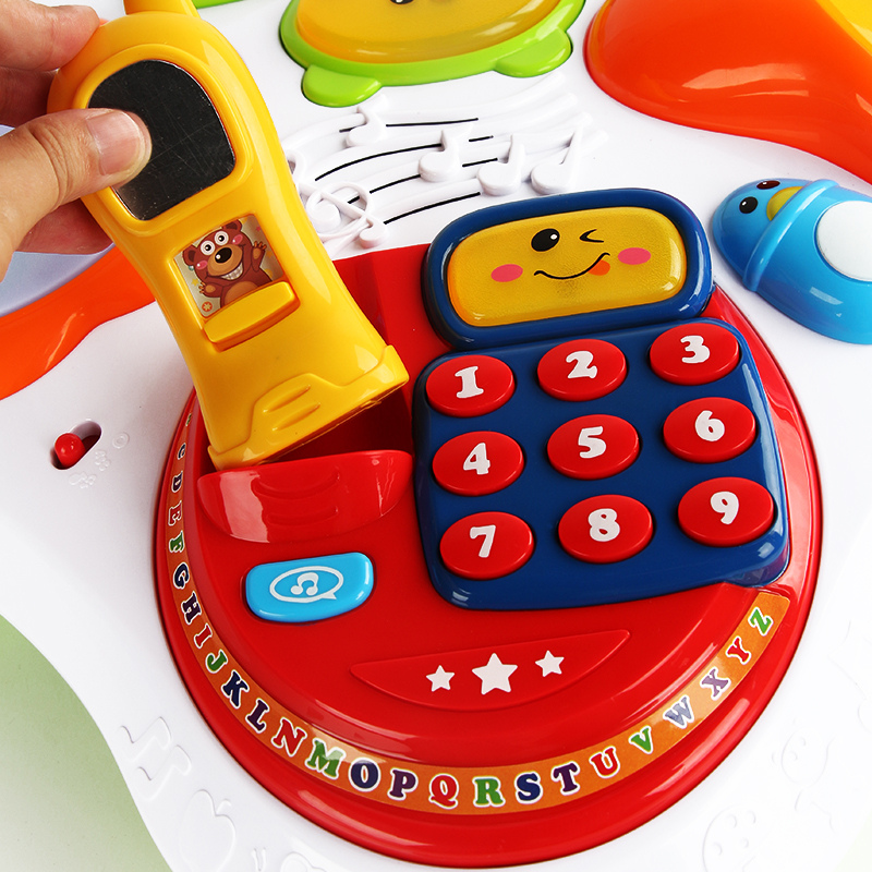 Mother & Kids Multifunction Language Learning Table For Kids Baby Early Educational Toy Walker Tablet Reading Machine Puzzle Game Desk