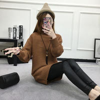Autumn new fashion sweater coat collar in the long sleeve shirt female long sleeved sweater