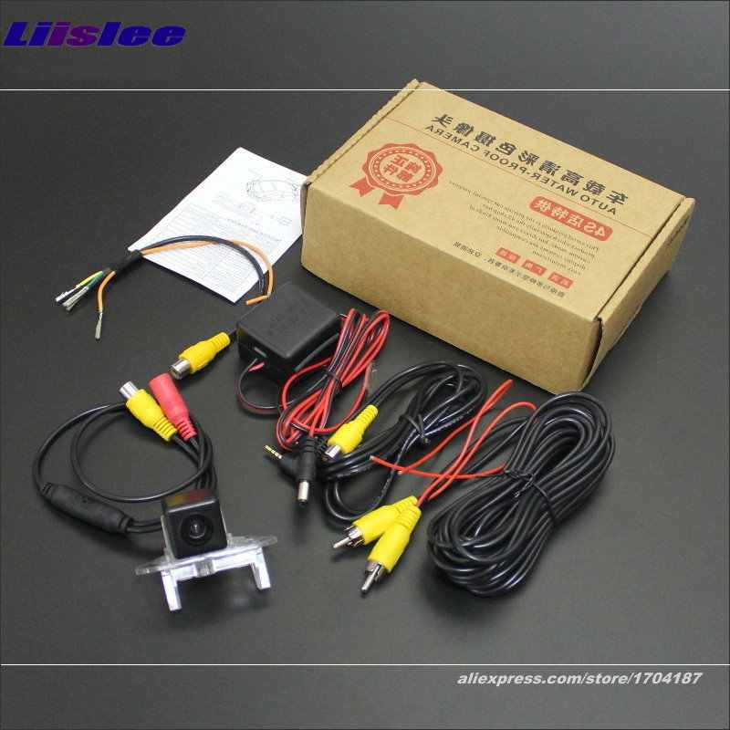 Liislee Achteruitrijcamera Voor Mercedes Benz A160 A180 A200 A150 A170 Intelligent Parking Tracks Reverse NTSC RCA AUX 580 TV lijnen