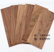 6Pieces/Lot 160x430mm Thickness:3mm Natural Black Walnut Wood Chips Veneer DIY Manual Building Model Material