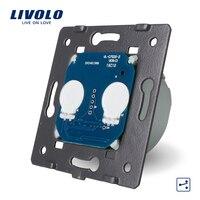 Free Shipping Livolo EU Standard The Base Of Touch Switch 2 Gang 2 Way Control Switch