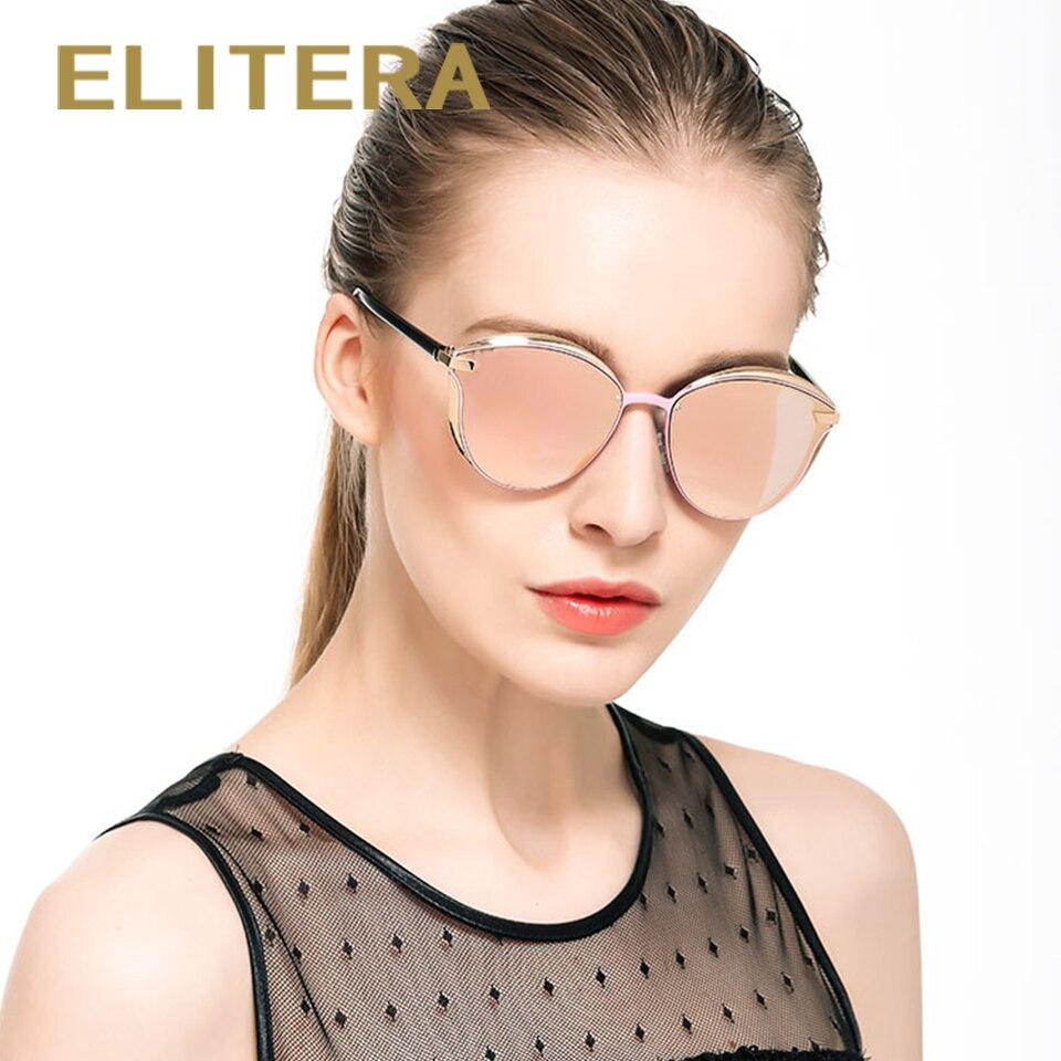 ELITERA New Fashion Women Sunglasses Luxury Brand Design Coating Lens Sun glasses Driving Travelling Metal Frame Glasses