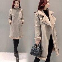 2017New Winter Women Jacket Korea Large yards Medium long Cotton Coat Jackets Female Thicken Warm Casual