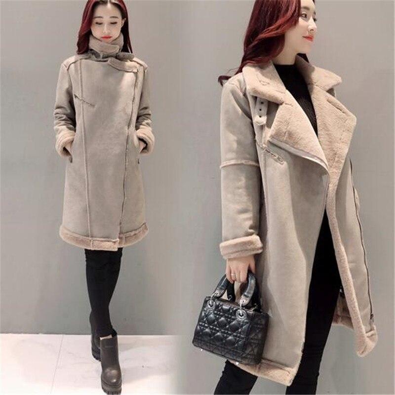 2017New Winter font b Women b font Jacket Korea Large yards Medium long Cotton font b