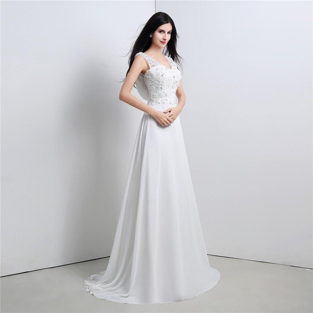 2019 Новые простые шифон на молнии Свадебные платья без рукавов Line свадебное платье изготовление размеров под заказ 2 4 6 8 10 12 14 16 18 20 22 24 + + +