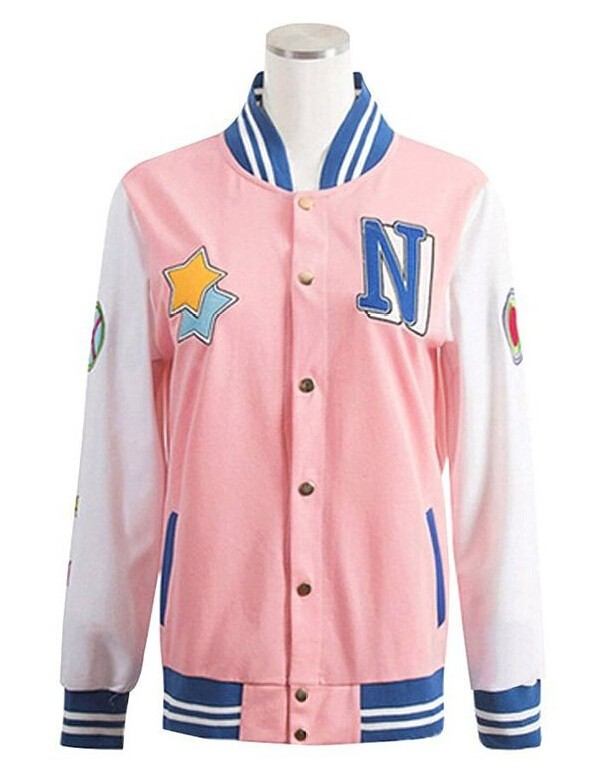 Anime Free! Iwatobi Swim Club Jacket Nagisa Hazuki Nagisa Cosplay Costume School Pink Jacket Coat Uniform