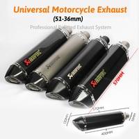 570mm long escape de moto Motorcycle muffler pipe motogp cbr cqr yzf Akrapovic accessories ktm 36 51mm R1 250cc 350cc 600cc