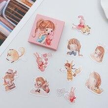 40 pcs/pack Cute little girl paper sticker DIY diary album decoration stickers scrapbooking planner label Scrapbook