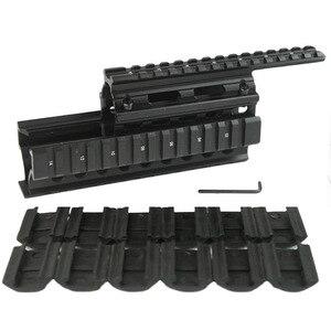 Alta calidad tácticas riel picatinny guardamanos Quad sistema ferroviario Ajuste de montaje AK47 y AK74 con 12 Uds cubiertas de la