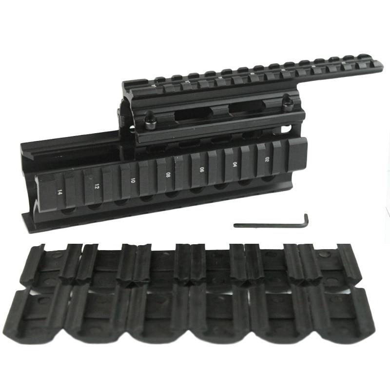 High Quality Tactics picatinny rail Handguard Quad Rail System Mount fit AK47 & AK74 With 12pcs Rail Covers