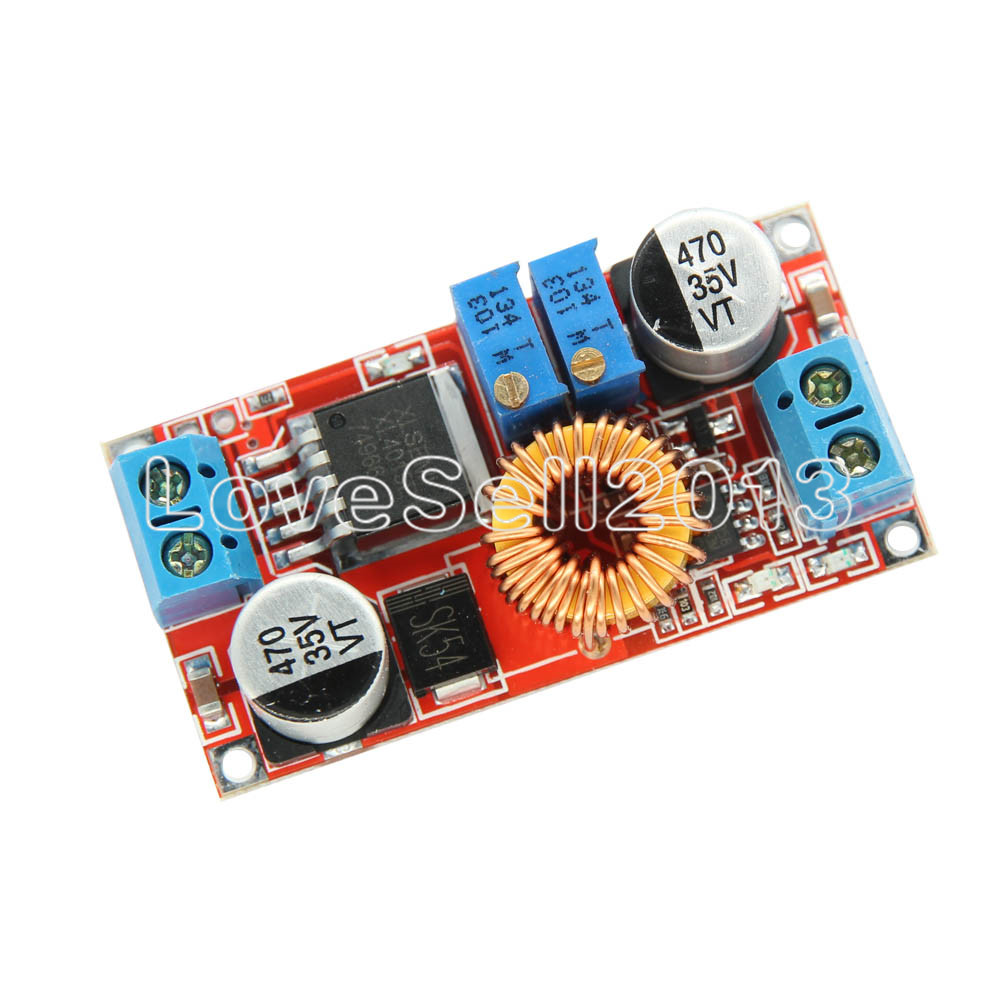 CC/CV Adjustable Max <font><b>5A</b></font> Step-Down Buck Charging Board XL4015 Lithium Battery Charger Converter Module <font><b>DC</b></font>-<font><b>DC</b></font> 0.8-30V To <font><b>5</b></font>-32V image