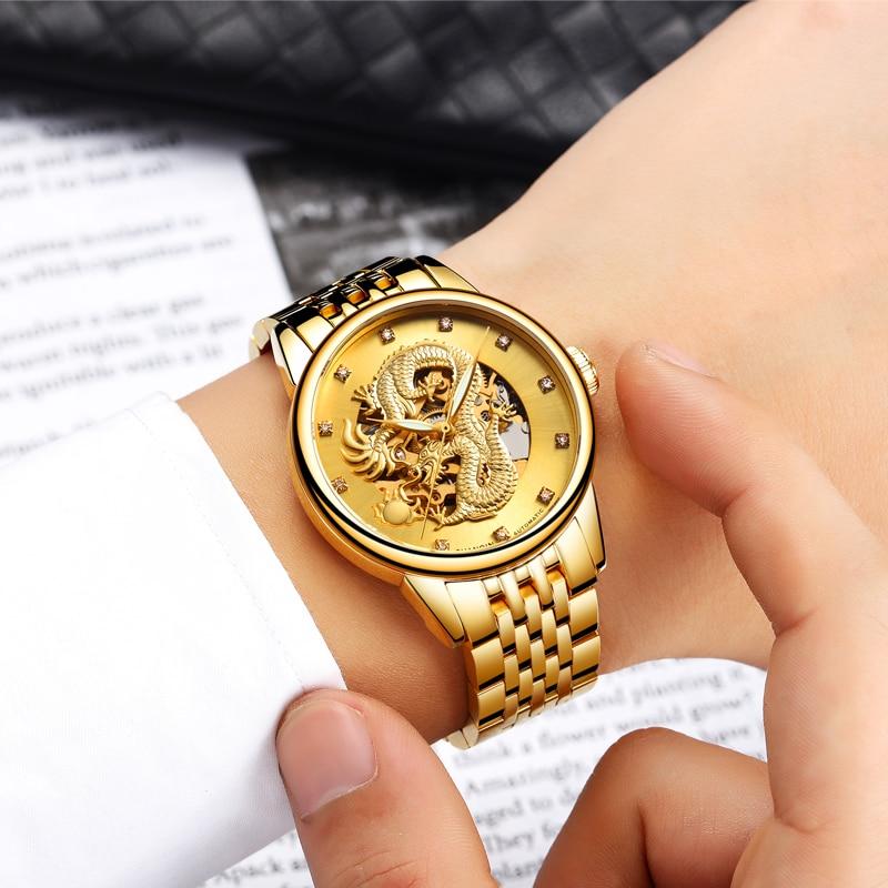 Top Brand GUANQIN Relojes de lujo para hombre Relojes mecánicos Gold - Relojes para hombres - foto 5