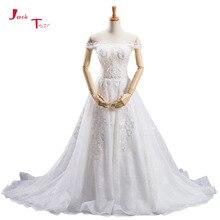 Jark Tozr Custom Made Short Sleeve A-line Wedding Dresses