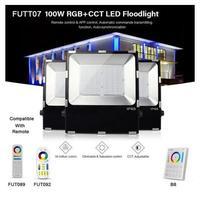 FUTT07 100W LED Flutlicht IP65 wasserdichte RGB + CCT einstellung 2 4G drahtlose fernbedienung wifi cellpnone APP control LED scheinwerfer|Scheinwerfer|   -