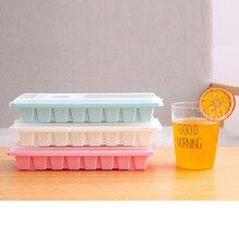 Форма для льда плесень 16 полости льда лоток с крышкой напиток желе холодильник плесень формочка L0424
