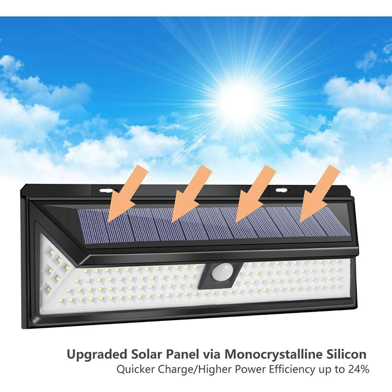 Outdoor Solar Light with 118 LED in 3 Modes and Motion Sensor Powered by Sunlight for Streets and Garden 4