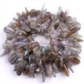 """FREE SHIPPING 10-15MM FREEFORM STICK GRAY LABRADORITE SPACER NATURAL STONES FOR DIY NECKLACE BRACELAT JEWELRY MAKING STRAND 15"""""""