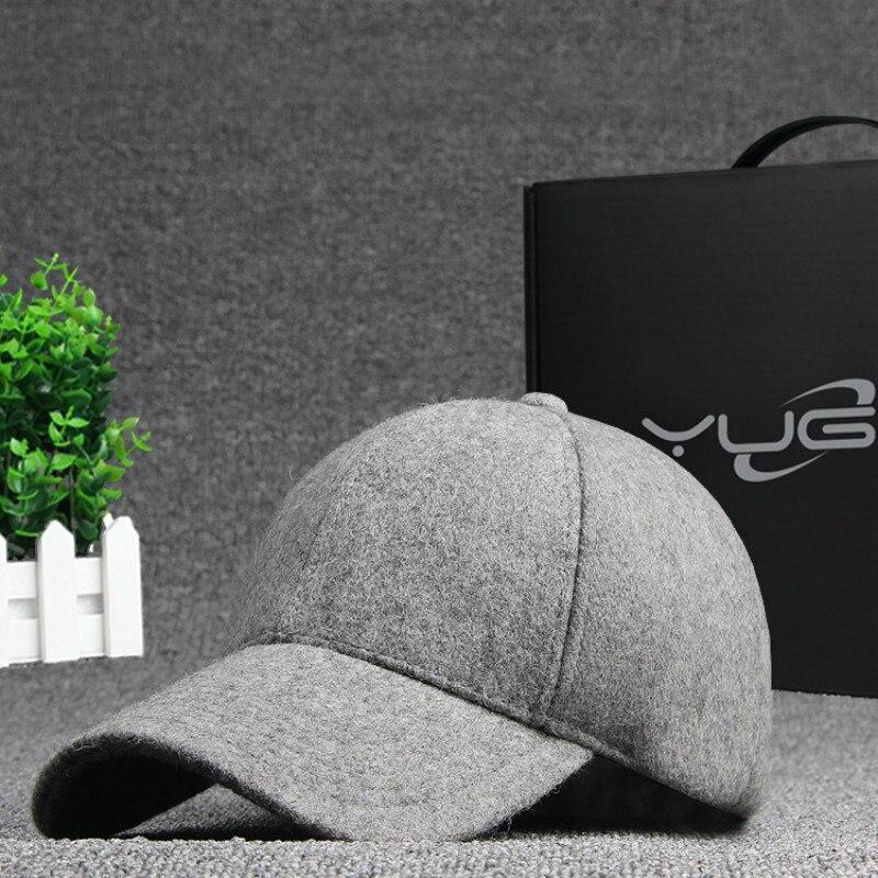 LeucosTicte Fashion Solid Color Wool Snapback Baseball Cap New Brand Winter Autum Hip Hop Flat Hat  Women Drop Shipping