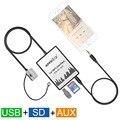 Coche MP3 USB SD Interfaz AUX Cambiador de Música Digital para Volkswagen Touareg 2002-2011