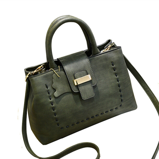 Cool Walker High Quality Pu Leather Handbag Women Bag 2017 New Fashion Tote Designer Handbags