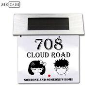 4LED 스테인레스 스틸 조명 램프 야외 조명 Doorplate 안전 태양 조명 빌보드 램프 야외 집 번호