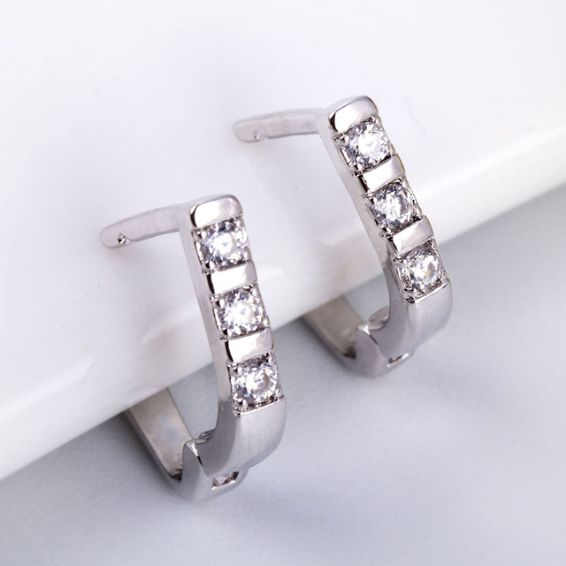 Beautiful Crystal Stud Earrings