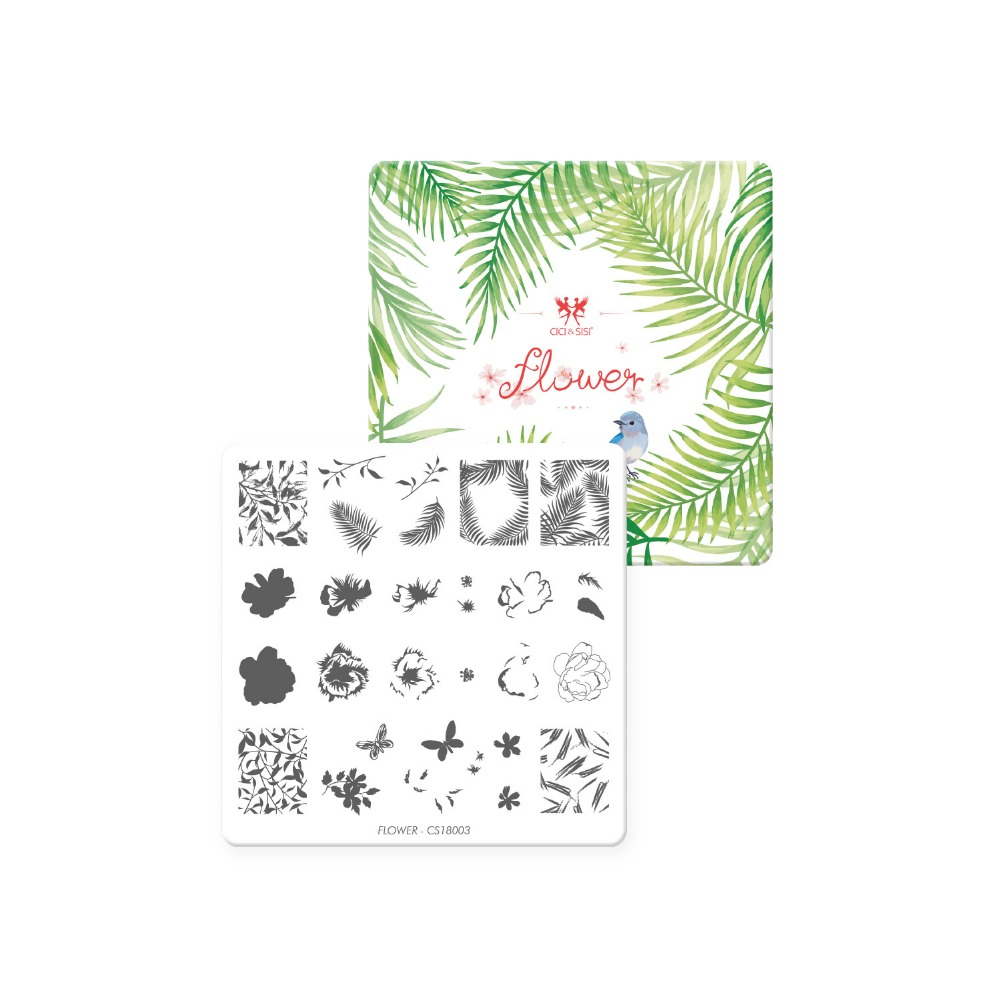 CICI&SISI Nail Art Stamping Plate Decorations Konad Stamping Manicure Template Stamp Flowers Images Template лаки для ногтей konad stamping set стемпинг сет для начинающих