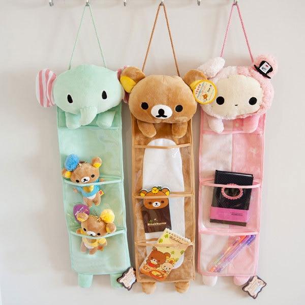 Candice guo! Super lindo juguete de peluche Sentimental Circo elefante conejo Rilakkuma colgando bolsa de almacenamiento de cumpleaños regalo de Navidad 1 unid