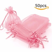 50 Pack Organza Gift Bags Wedding Party Favor Jewelry Pouches wedding decoration