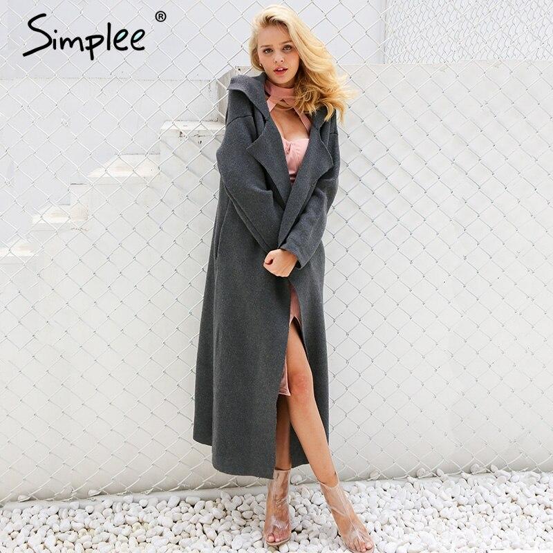 Simplee Повседневное длинный вязаный кардиган женский элегантный кнопка карманы свитер пальто 2017 на осень-зиму теплый длинное пальто женские