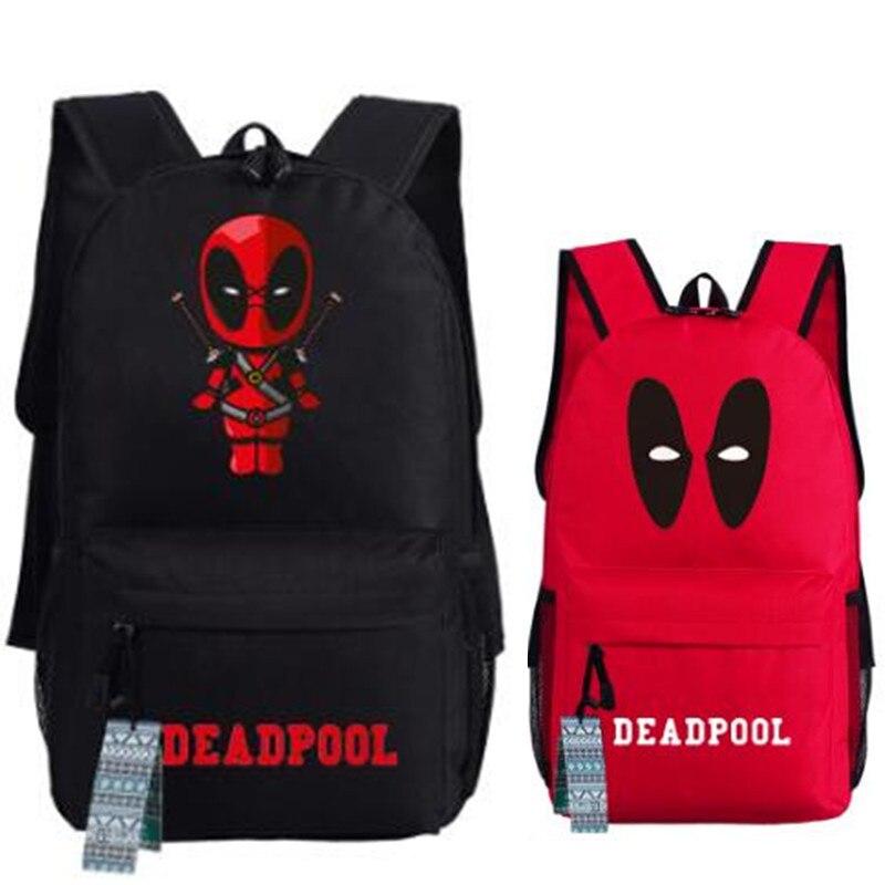 Man Deadpool Game Teenager Backpack Bag Superheros Students Shoulder School Book Bag Travel Bag